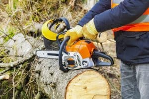 chainsaw safety tips and starting a chainsaw