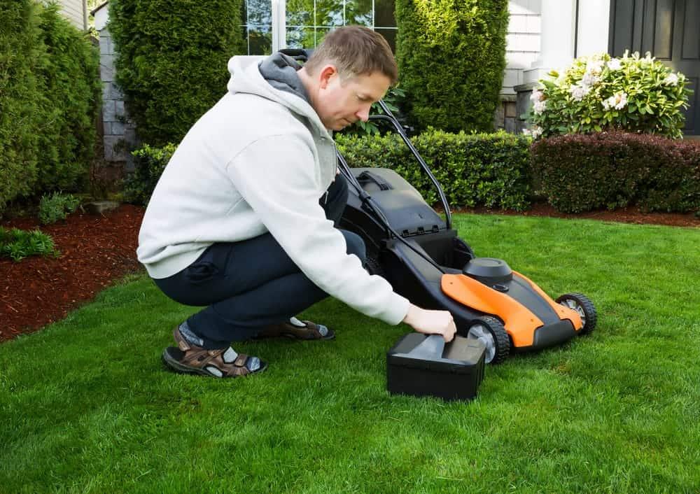 cheap battery lawn mower