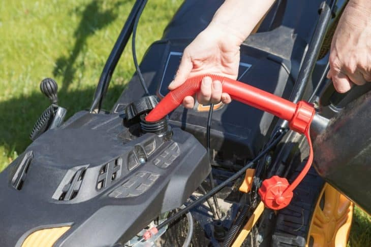 refuel your lawn mower without spilling gas on the lawn