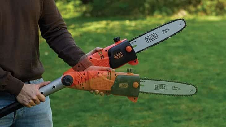 cordless pole chainsaw features