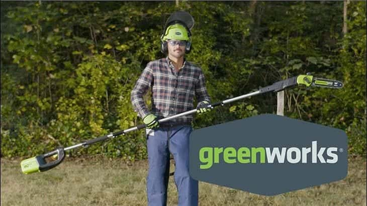 greenworks pole chainsaw