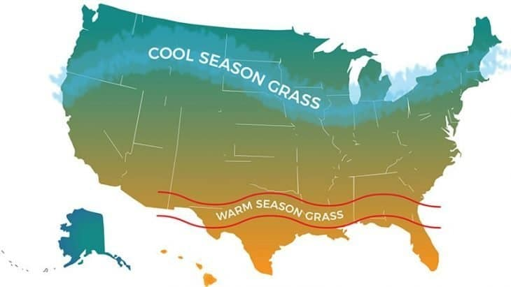 cool season and warm season map