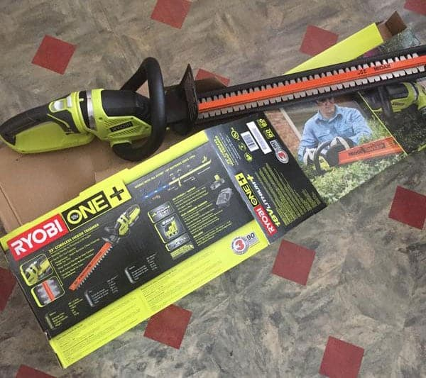ryobi 18v hedge trimmer unboxing review