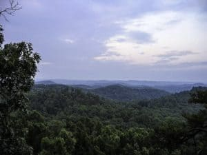 Landscape and forest in Daniel Boone National Forest in Kentucky