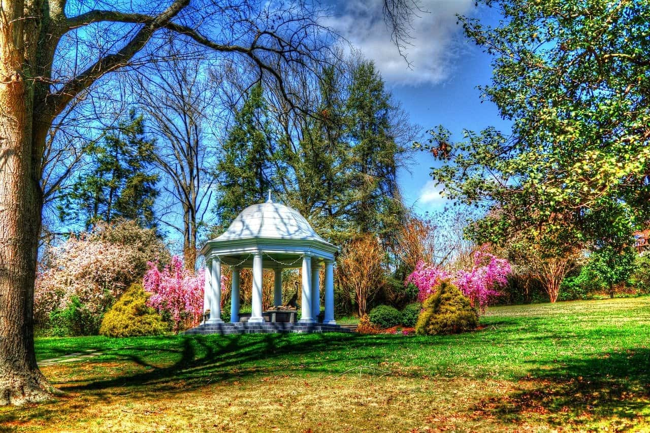 gazebo in tennessee garden