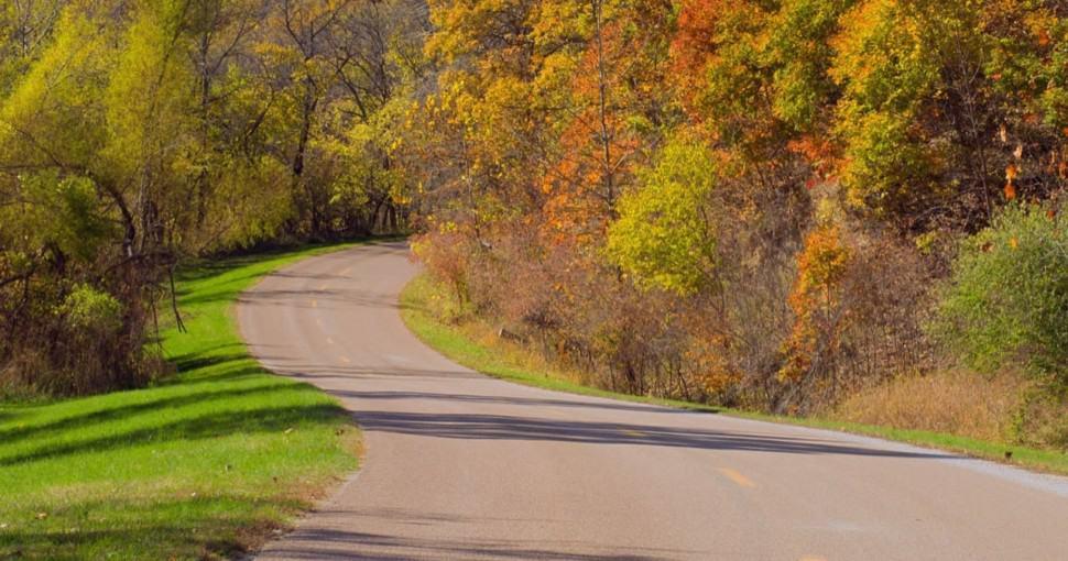 autumn woods Indian Cave State Park Nebraska USA