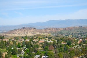 Mount Clef Ridge as seen from Tarantula Hill Thousand Oaks