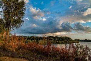 Big Woods Lake Campground Sunset Cedar Falls Iowa