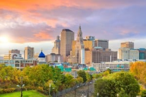 Skyline of downtown Hartford Connecticut